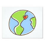 Planet Earth Picture! 4.25x5.5 Paper Invitation Card