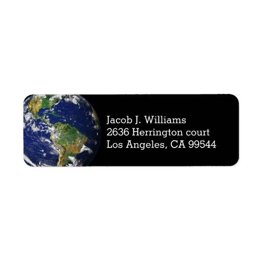 Planet Earth Return Address Label