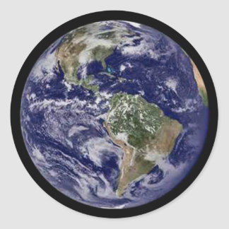 Planet Earth Round Stickers