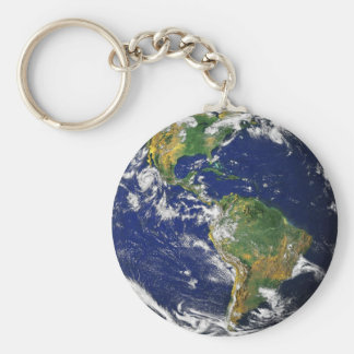 PLANET EARTH (solar system) ~ Basic Round Button Key Ring