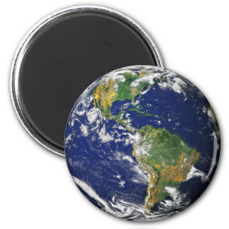 Planet Earth Space Magnent 6 Cm Round Magnet