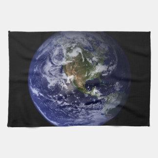 Planet Earth Space Photo Tea Towel
