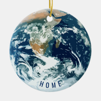 Planet Earth with Text (customizable) Ceramic Ornament
