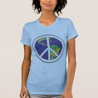 Planet Earth World Peace Sign Tshirts