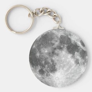 PLANET EARTH'S MOON (solar system) ~ Basic Round Button Key Ring