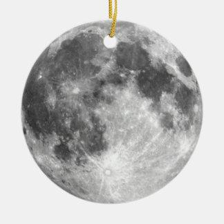PLANET EARTH'S MOON (solar system) ~ Round Ceramic Decoration