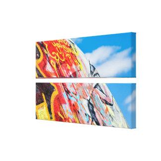 planet graffiti canvas print