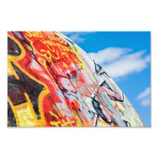 planet graffiti art photo