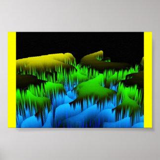 Planet Green Horizon Infinity Poster