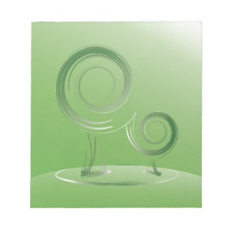 planet green notepad