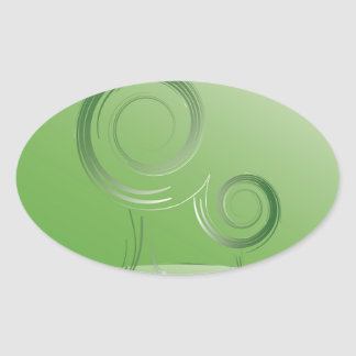 planet green oval sticker