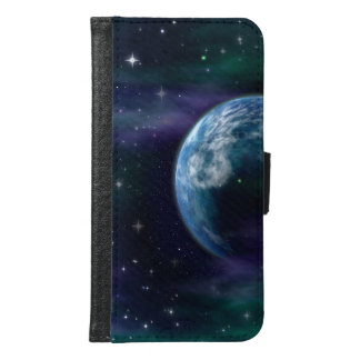 Planet in Space Samsung Galaxy S6 Wallet Case