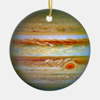 Planet Jupiter Christmas Ceramic Ornament