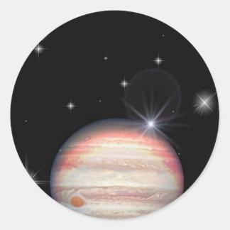 Planet Jupiter Classic Round Sticker