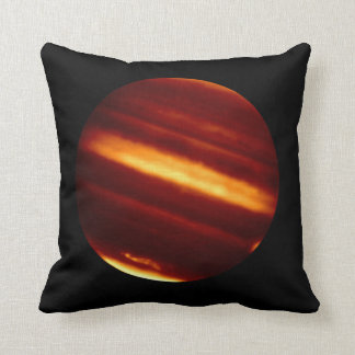 Planet Jupiter in Infrared Light Cushion