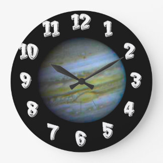 Planet Jupiter Large Clock