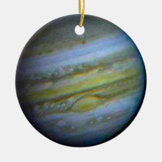 Planet Jupiter Ornament. Round Ceramic Decoration