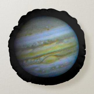 Planet Jupiter . Round Cushion