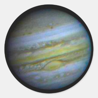 Planet Jupiter Round Stickers. Round Sticker