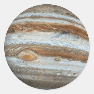 PLANET JUPITER star background (solar system) ~ Round Sticker