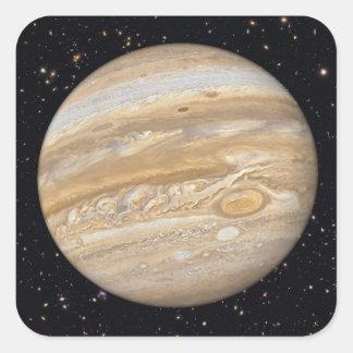 Planet Jupiter Starry Sky Square Sticker