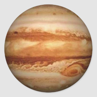 PLANET JUPITER v.3 (solar system) ~ Round Sticker