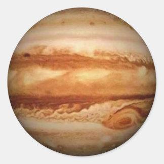 PLANET JUPITER v.3 (solar system) ~ Round Sticker