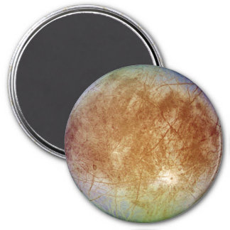 PLANET JUPITER'S MOON EUROPA (solar system) ~ 7.5 Cm Round Magnet