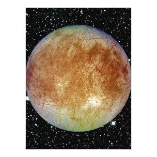 PLANET JUPITER'S MOON EUROPA star background 17 Cm X 22 Cm Invitation Card