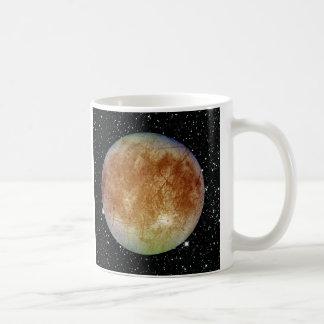 PLANET JUPITER'S MOON EUROPA star background Basic White Mug