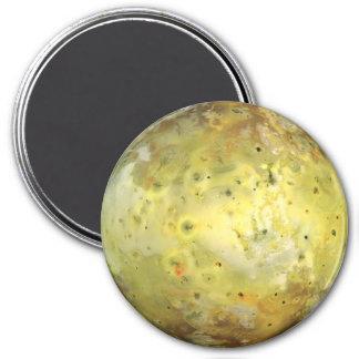 PLANET JUPITER'S MOON IO true colour (solar 7.5 Cm Round Magnet