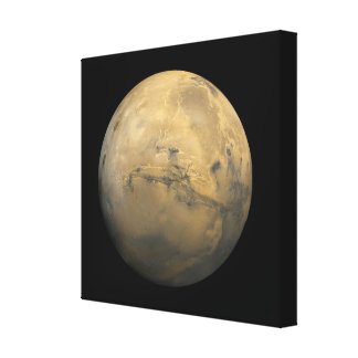 Planet Mars in the solar system NASA Canvas Print