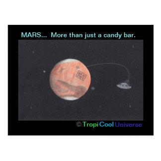Planet MARS postcard