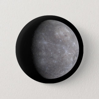 Planet Mercury in space 6 Cm Round Badge
