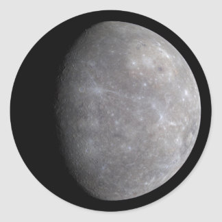 Planet Mercury in space Classic Round Sticker