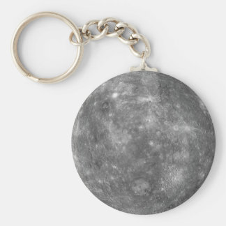 PLANET MERCURY (solar system) ~ Basic Round Button Key Ring