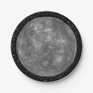 PLANET MERCURY star background (solar system) ~ Paper Plate