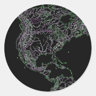 Planet monochrome round stickers