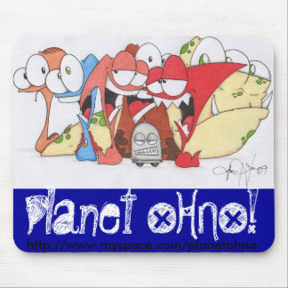 Planet OHNO! Spring Line Mouse Pad