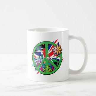 Planet Peace Basic White Mug
