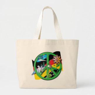 Planet Peace Germany Jumbo Tote Bag