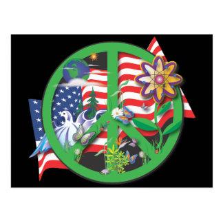 Planet Peace USA Postcard