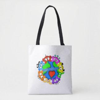 Planet Peek-A-BOO Logo Tote Bag