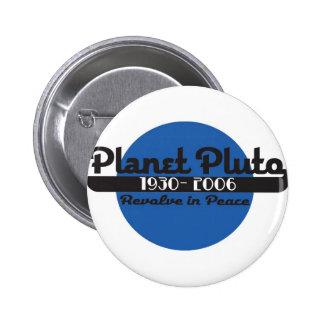 Planet Pluto 6 Cm Round Badge