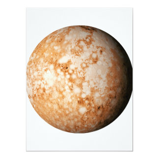 PLANET  PLUTO (solar system) ~ 17 Cm X 22 Cm Invitation Card