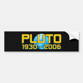 Planet Pluto WTF Bumper Stickers