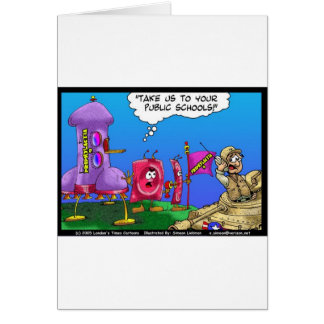 Planet Prophylactica Invades Earth Funny Gifts Greeting Card