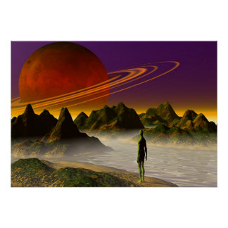 Planet Rise Posters