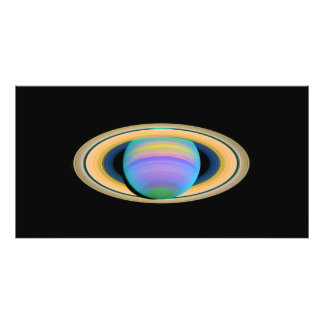 Planet Saturn's Rings in Ultraviolet Light Photo Print