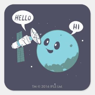Planet Square Sticker